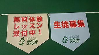 ボブキャット・イングリッシュスクール様連続旗